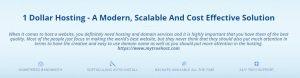 1 Dollar Hosting, Unlimited Reseller Hosting, $1 Web Hosting