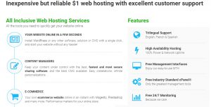 $ 1 web hosting, cheap reseller hosting