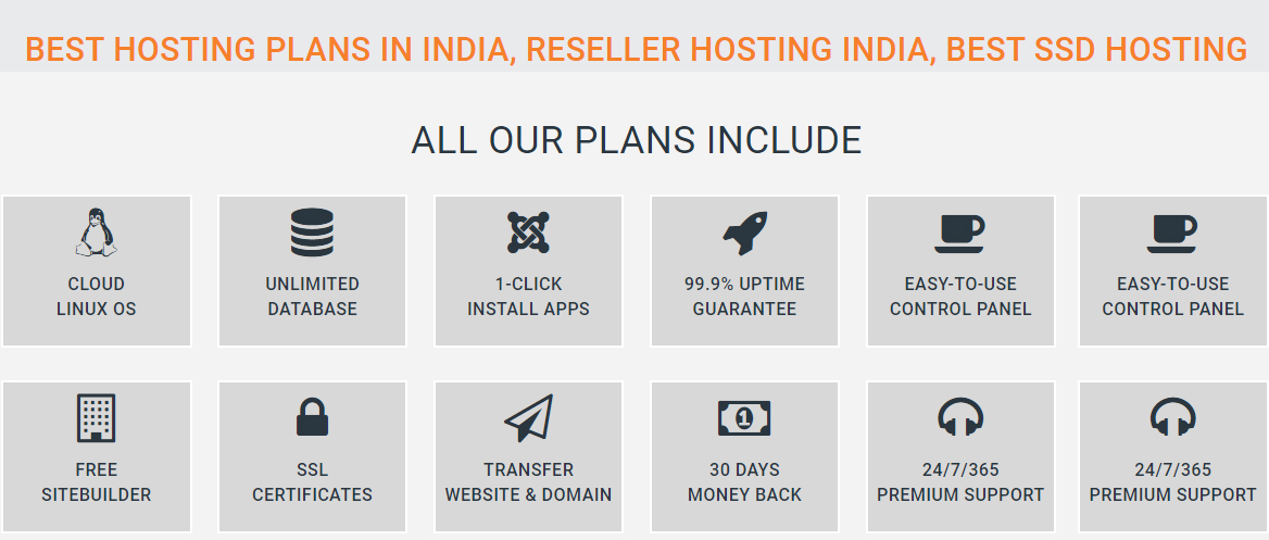 Best Hosting Plans In India, Reseller Hosting India, Best SSD Hosting