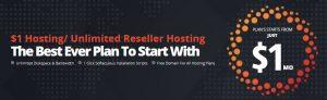 $1 Hosting, $1 Web Hosting, Unlimited Reseller Hosting